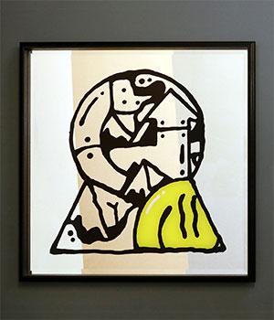 Darren John Keyhole Artwork Mirror