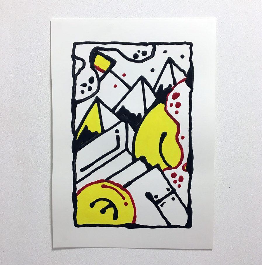 Darren-John-Parallel-Paper-Yellow-Unframed-web