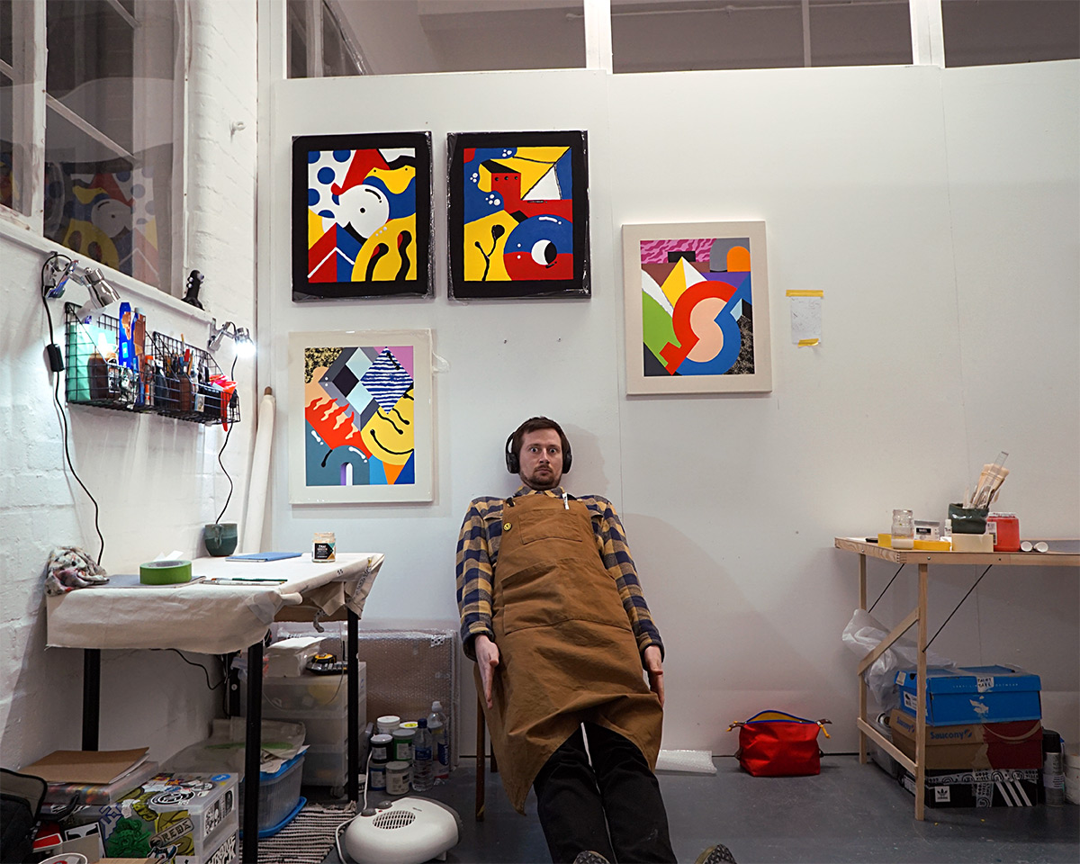 Darren John London Artist Studio