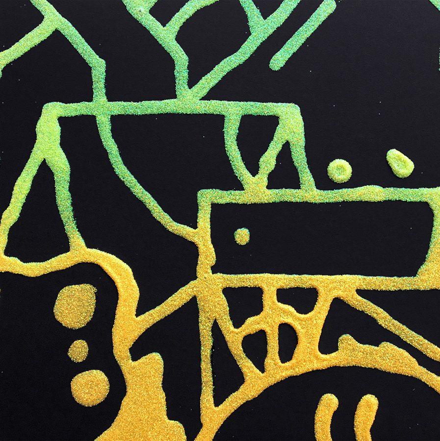 Darren-John-Glitter-Fade-Painting-detail-2