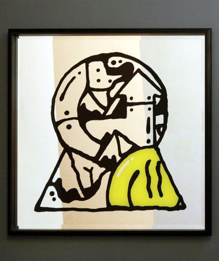 Darren John Keyhole Mirror Artwork