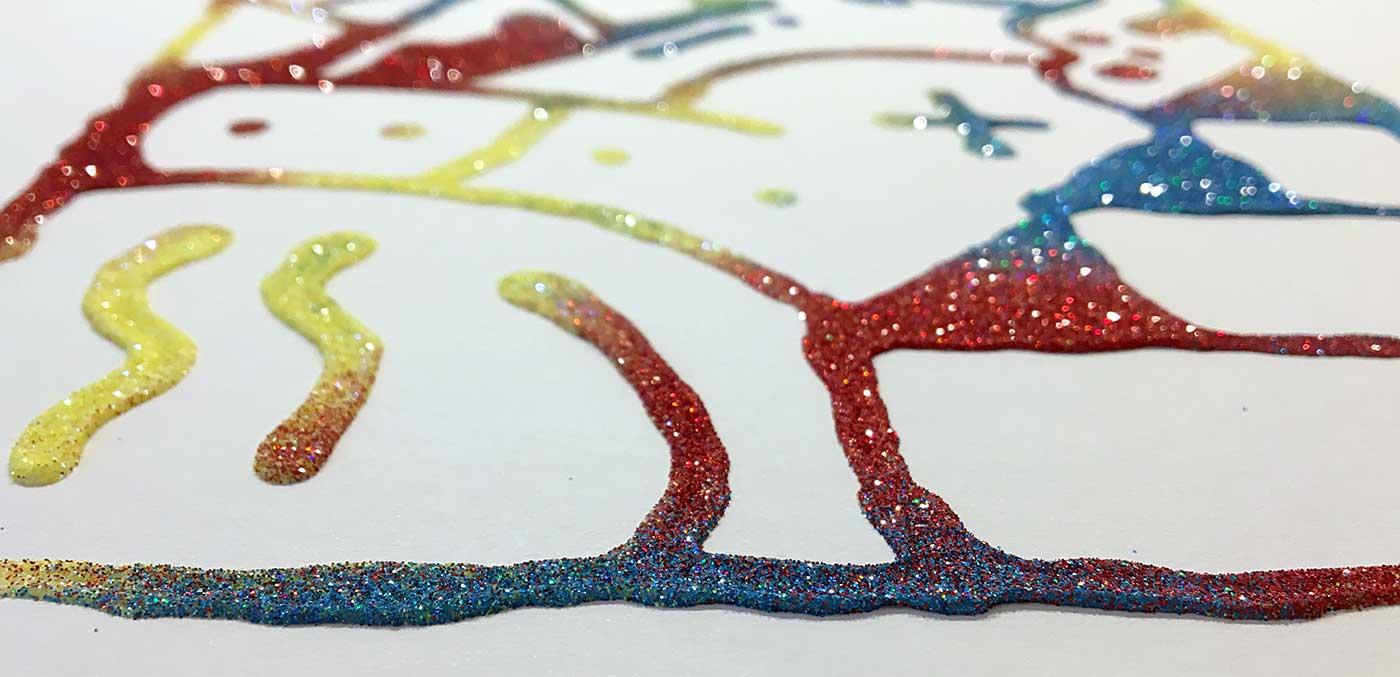 Darren John Glitter Artwork