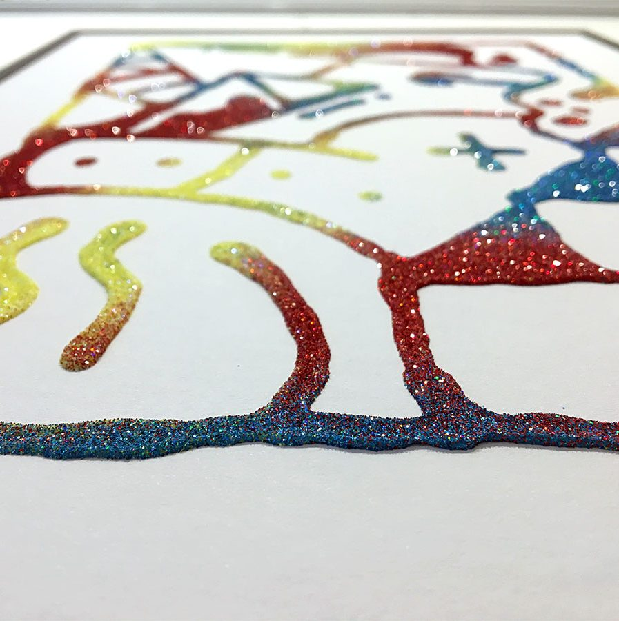 Darren John Primary Glitter Artwork