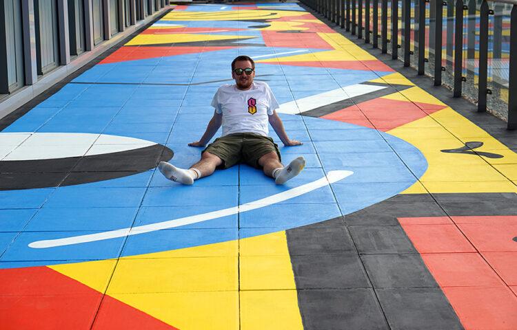 Darren John London Terrace Mural Artwork