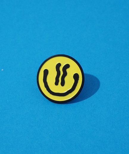 Darren John Yellow Acid Smiley Pin