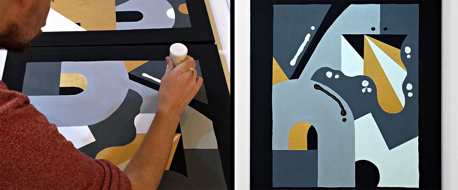 Darren John Parallax Painting