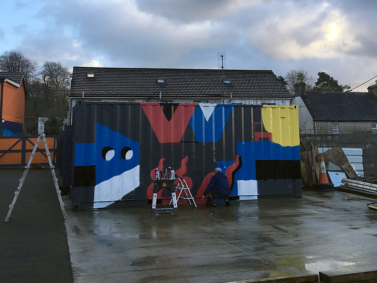 Darren John and Jamie Krooks Painted Container Ireland