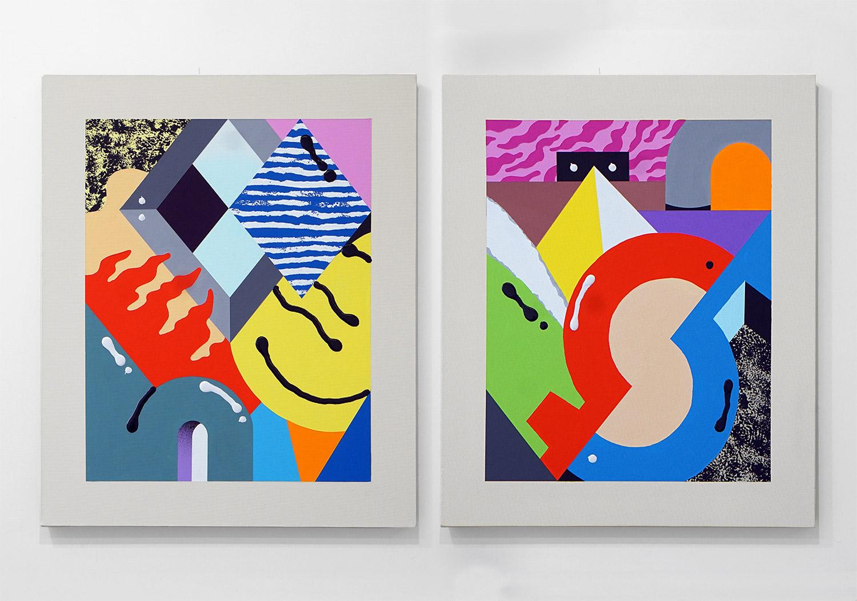 Darren John Parallax Textures Painting