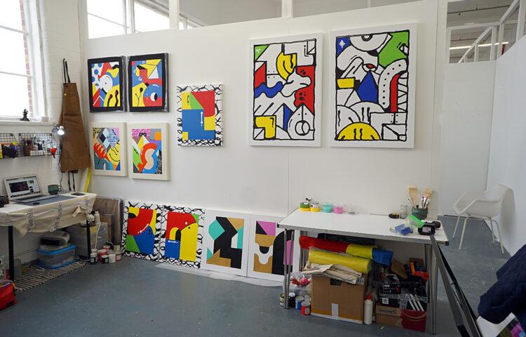 Darren John Artist Studio London