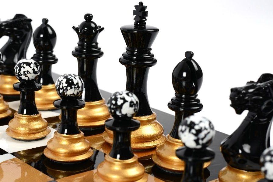 Darren-John-hand-painted-chess-set-Black-pieces